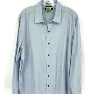 Marc Anthony Blue Long Sleeves Button Front Shirt